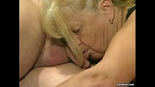 Two granny acquire drilled in foursome act