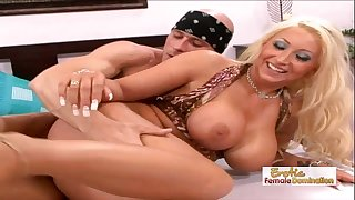 Skanky waitress acquires her pierced muff drilled