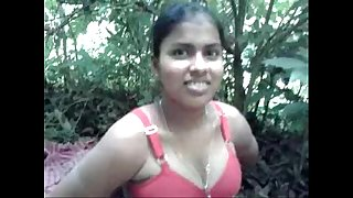 Desi village hotwife drilled by neighbour in forest