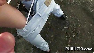 Amateur - sex in public place