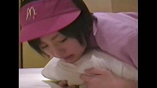 Japanese housewife ( 18) with mcdonald's uniform 002