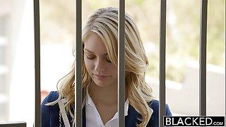 Blacked blond girlfriend alli rae likes dark shlong