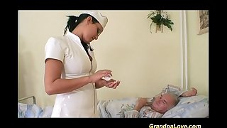 Grandpa playgirl fucking the nurse