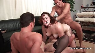 Ffmm 2 babes hard anal and double penetration fucking in foursome fuckfest