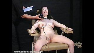 Electro tortured bbw in harsh stool slavery and severe suffering of chubby serf