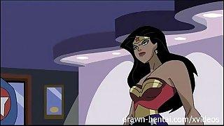 Superhero anime - wonder woman vs captain america