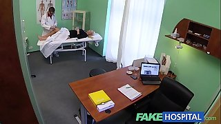Fakehospital thick marvelous golden-haired lets the doctor do as this chab please