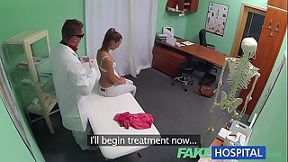 Fakehospital nynpho brunette hair legal age teenager is back in the doctors office