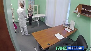 Fake hospital hawt golden-haired acquires the full doctors treatment