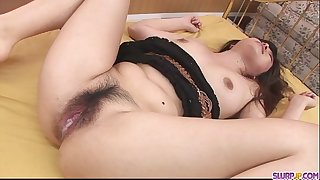 Sexy booty and breasty hottie finger screwed and bawdy cleft plugged with sex toys