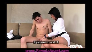 Femaleagent milf casts youthful nervous dude