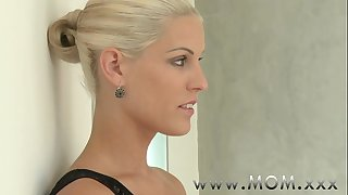 Mom sexually excited golden-haired milf desires his wang