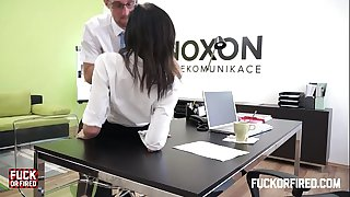 Assfucking my white wife in my office