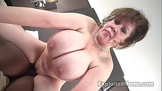 Cougar does 1st interracial dark rod movie