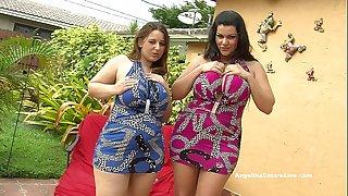 Angelina castro & lexxxi lockhart large titted bj outside!