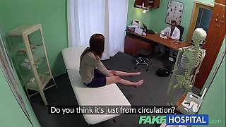 Fake hospital sinless redhead receives a creampie prescription