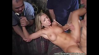 Beautiful horny white wife desires greater amount sex than hubby
