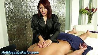 Hot redhead masseuse