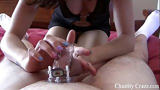 Locked in chastity for thirty days by princess ashley