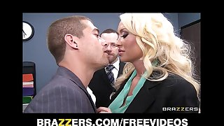 Incredibly hawt blond summer brielle can't resist her co-worker