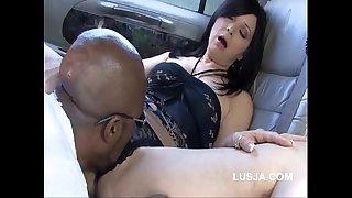 Black bull pounding golden-haired amateur wife