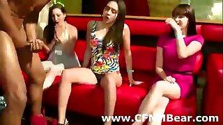 Sexy dilettante cfnm women give stripper oral-stimulation