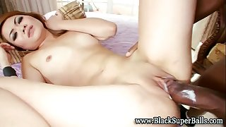 Tight interracial oriental bawdy cleft