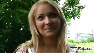 Public fuck with hawt non-professional housewife