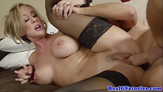 Milf with bigtits pussyfucked deeply