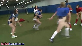 Amateur legal age teenagers playing