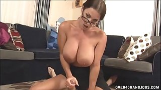 Hot milf with large love muffins tugjob