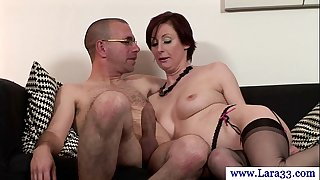 Mature nylons milf engulfing on penis in high def