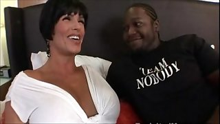 Busty large tit milf drilled by dark thug interracial movie scene