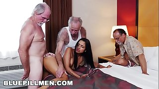 Blue pill fellows - 3 old guys and a latin white wife named nikki kay