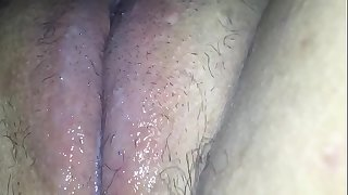 Fucking my fur pie with a hairbrush