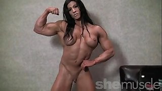 Angela salvagno undressed female bodybuilder disrobe