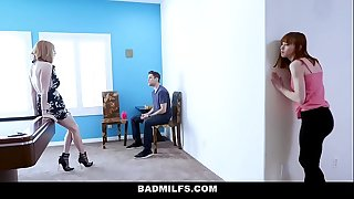 Badmilfs - sexually excited mommy bonks stepdaughter and her boyfriend