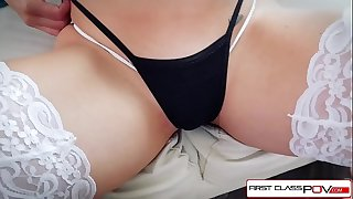 First class pov - see nikki knightly suking and fucking a large rod