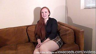 Bbw redhead iowa college slutty wife stripping down to her skivvies