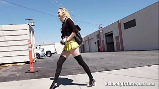 Hot schoolgirl acquires piddled when this guy cums inside her!