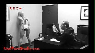 Realpornstudio.com casting despairing slim hooker takes anal throne room swallows