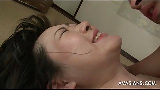 Asian hotwife takes anal