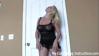 Chug your cum for your neighbour cei