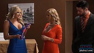 Shark tank parody becomes hot trio on the set