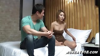 Sexy korean hottie caressed!