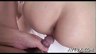 Lusty dude bangs oriental babe roughly from behind
