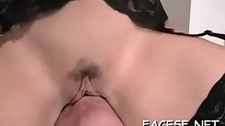 Hot juvenile babe gets her ass and pussy licked and fingered