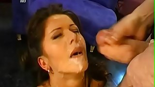 Savoring loads of sated white seeds delight wicked babes