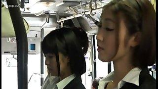 Eastern lesbian babes nigh bus