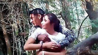 www.Adddictedpussy.com - Cute Girlfriend Got Her breast massaged In a catch After taxes